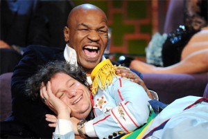 Jeff Ross with Mike Tyson (Credit: Comedy Central / Picture Group)