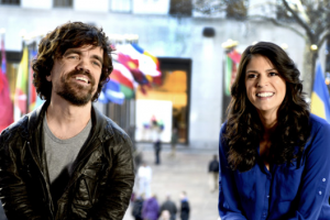 Peter Dinklage and Cecily Strong (Photo: Dana Edelson/NBC/NBCU Photo Bank via Getty Images)