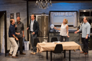 TJ Jagodowski, Scott Adsit, David Pasquesi, Stephnie Weir and John Lutz performing Stolen House in Chicago (Photograph: Jerry Schulman)