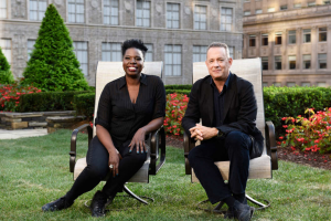 Leslie Jones & Tom Hanks (Photo: NBC/ Rosalind O'Connor)
