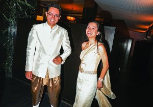 Geoffrey Aung and Lanna Walsh at the Manhattan Marriage Bureau (Photo: Krista Schlueter)