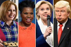 Vanessa Bayer, Leslie Jones, Kate McKinnon, Alec Baldwin (Photo: NBC)